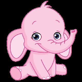 jpg royalty free stock Apron drawing cute. Pink elephant cartoon clip
