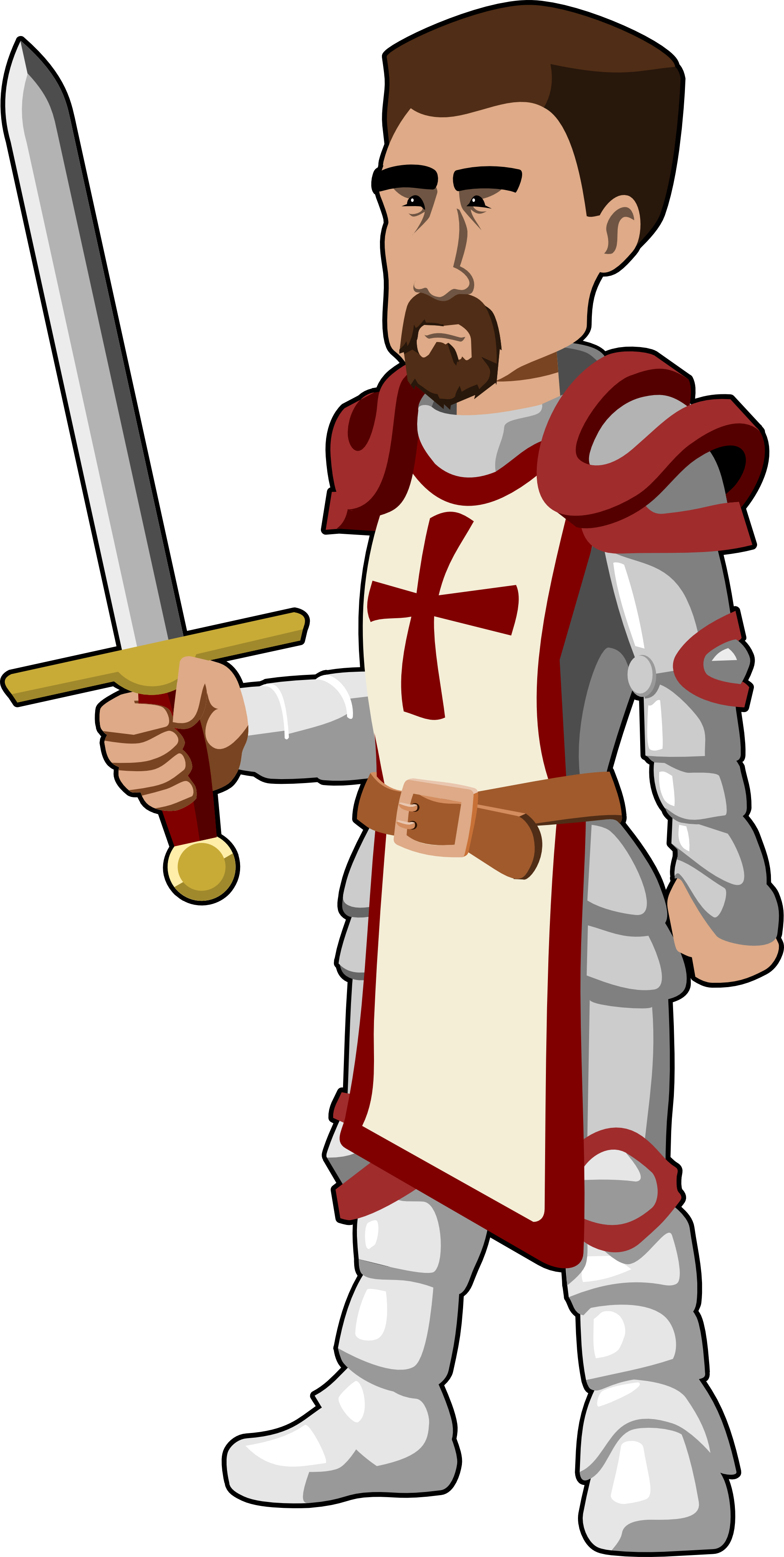 graphic Medieval Knight Clipart