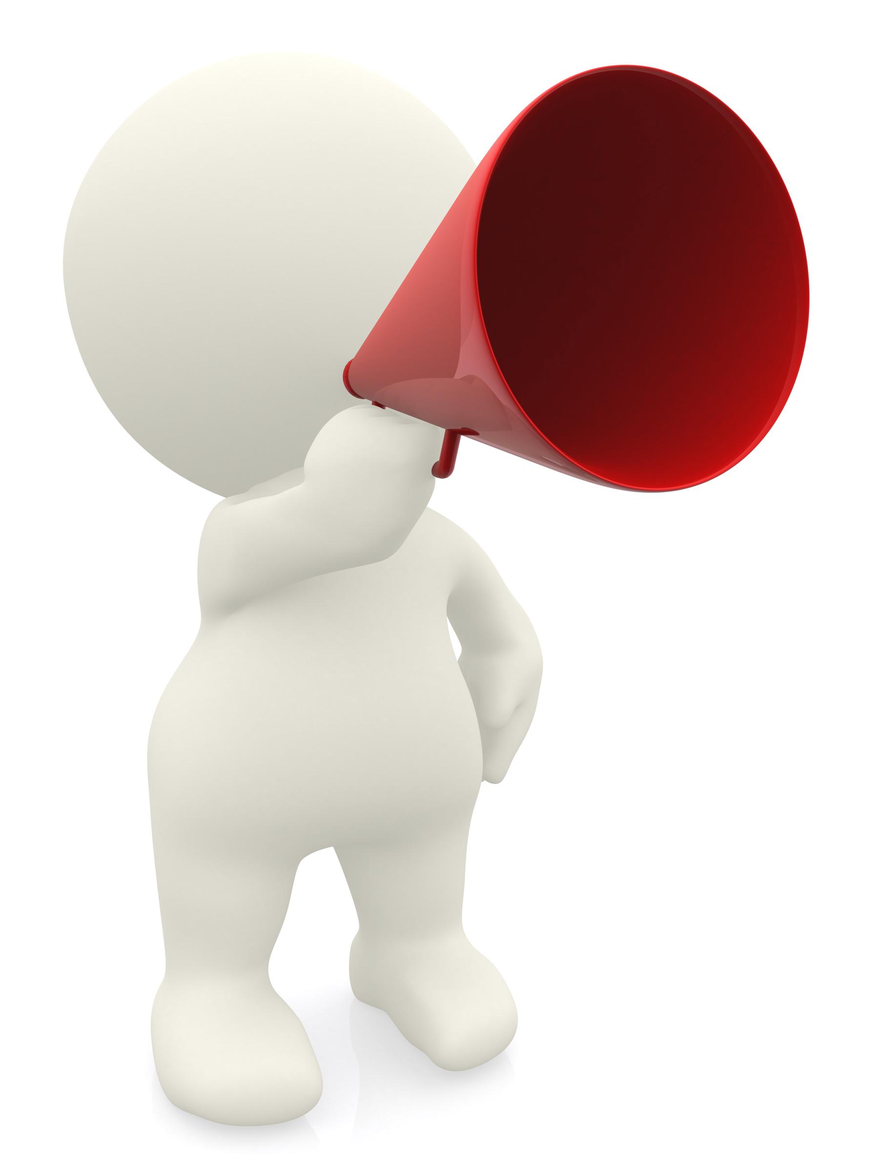 clip art black and white Announcement free download best. Announcements clipart megaphone