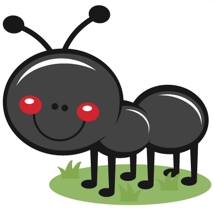 clip art royalty free library Why clipart svg. Ant in grass scrapbook