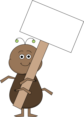 vector royalty free With a sign color. Ant clipart blank.