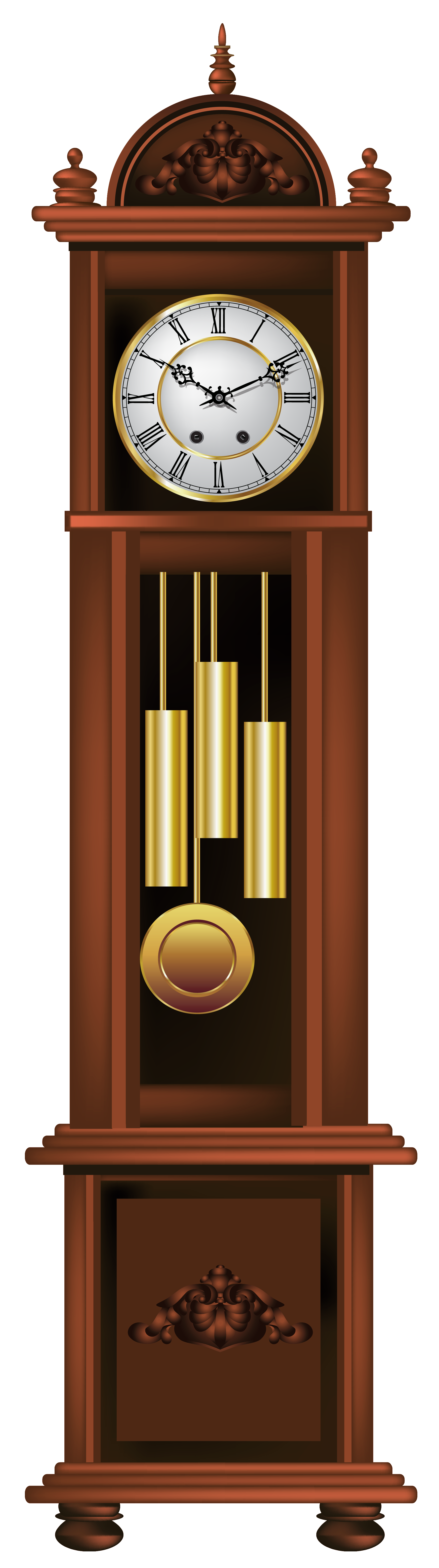 jpg royalty free library Antique Grandfather Clock PNG Clip Art