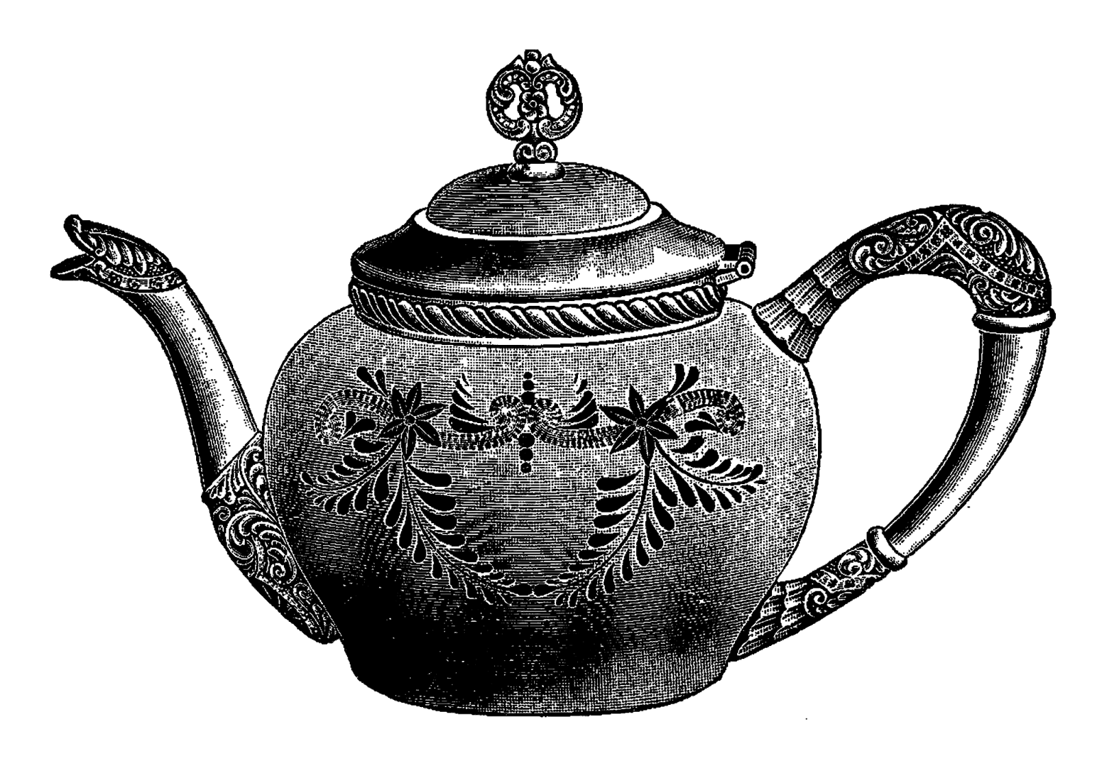 vector download Free tea in a teapot high resolution clip art all free picture