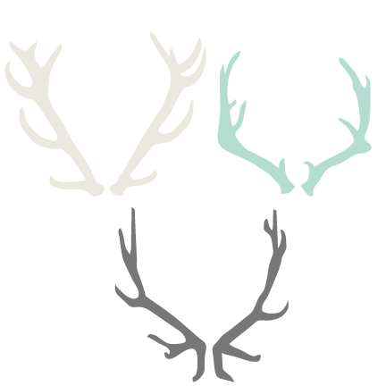 transparent download Antler clipart. Set svg cutting files.