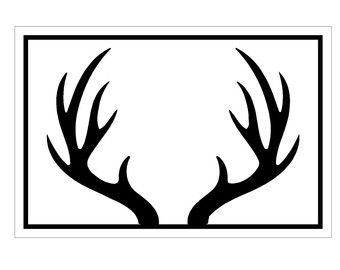 picture library library Antler clipart. Deer clip art use.