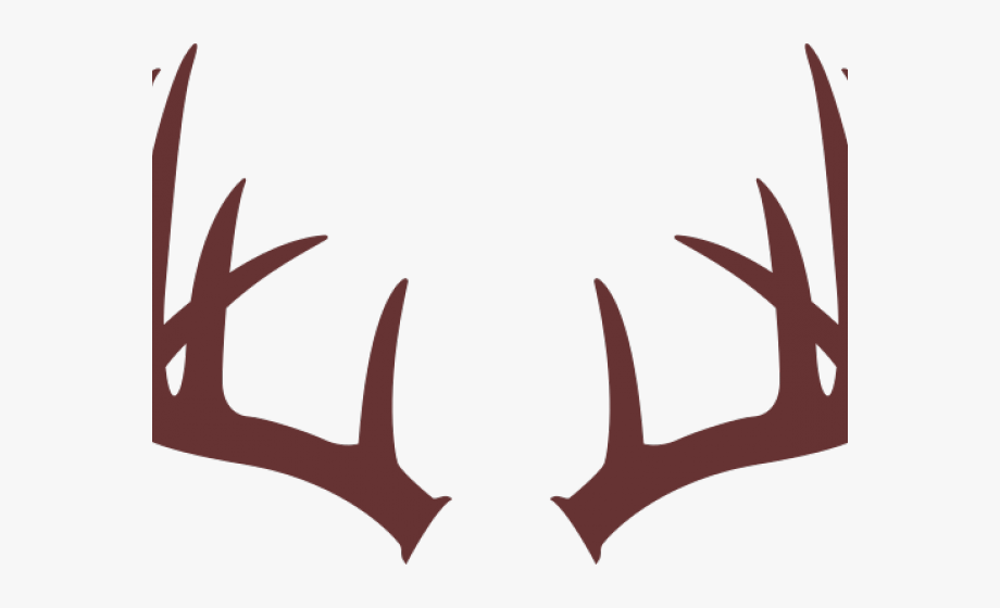 graphic black and white download Brown deer letter o. Antler clipart.