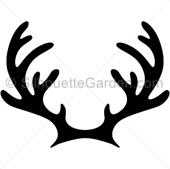 svg transparent stock Reindeer silhouette clip art. Antlers clipart.