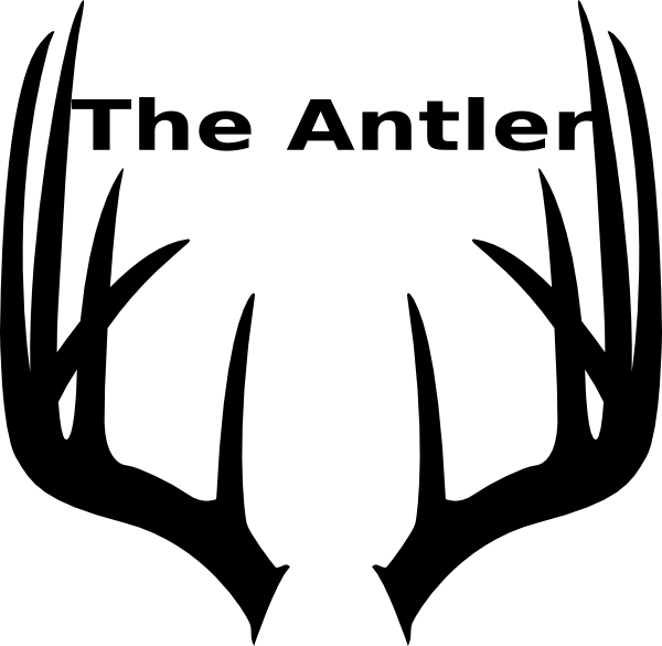jpg black and white Antlers clipart. Antler clip art at