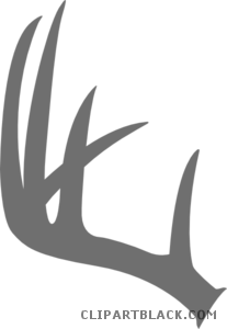 svg download Antler clipart. Clipartblack com animal free.