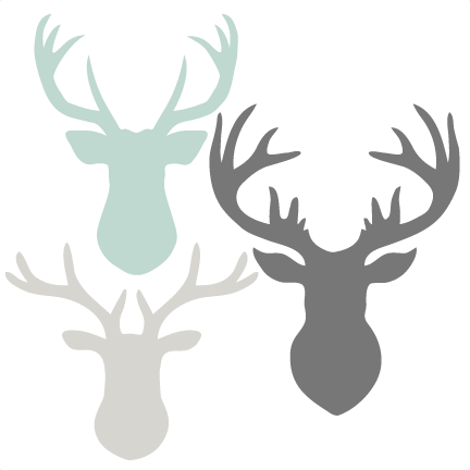 image freeuse library Deer Head Set SVG scrapbook cut file cute clipart files for