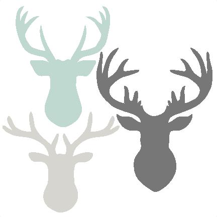 png download Deer Head Set SVG scrapbook cut file cute clipart files for