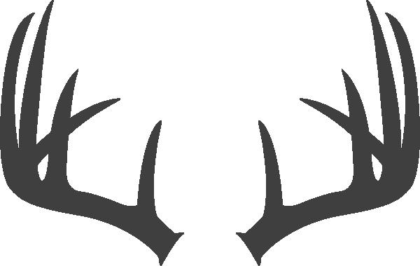 svg black and white Antlers dark grey clip. Transparent horns reindeer