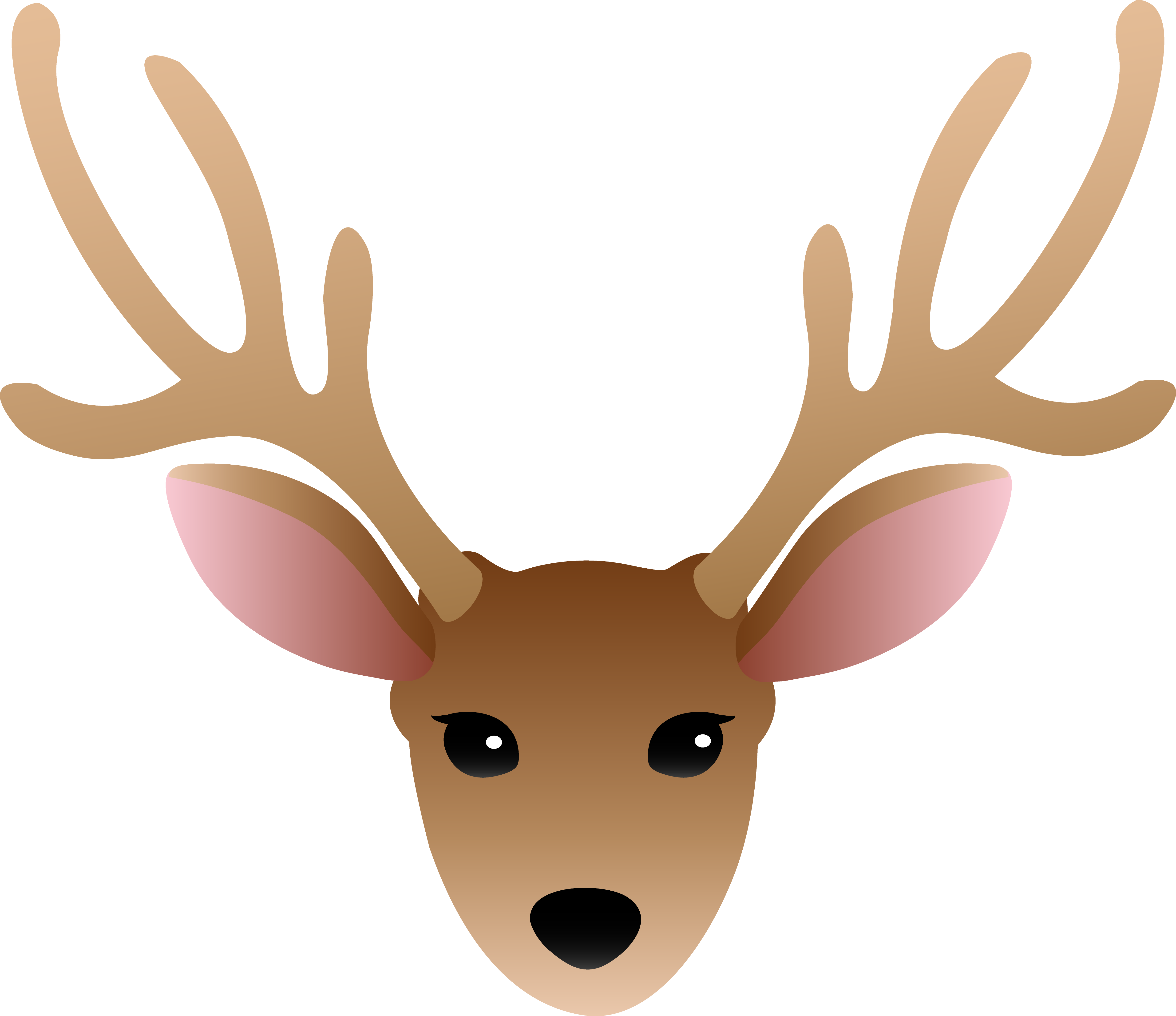 picture library library Deer antlers panda free. Buck clipart face.