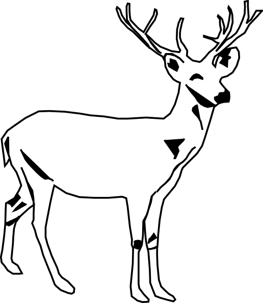 jpg transparent stock Deer Antlers Clipart Black And White