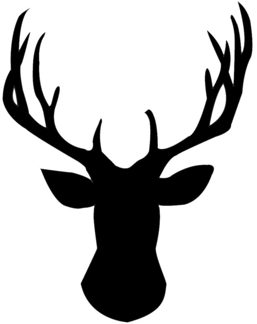 clip transparent stock Use this silhouette for. Buck clipart deer rack