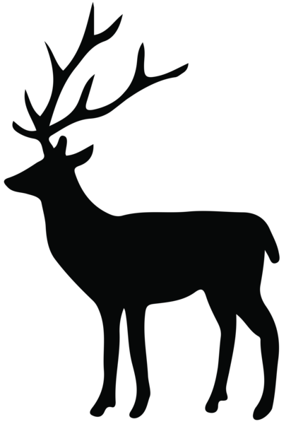 graphic black and white download Deer Silhouette PNG Transparent Clip Art Image