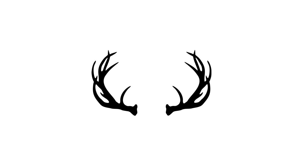 royalty free stock Antlers clipart. Vector deer antler clip.