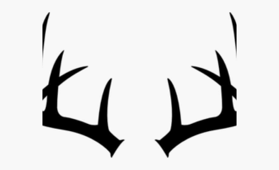 clip art black and white download Antlers clipart. Deer black and white.