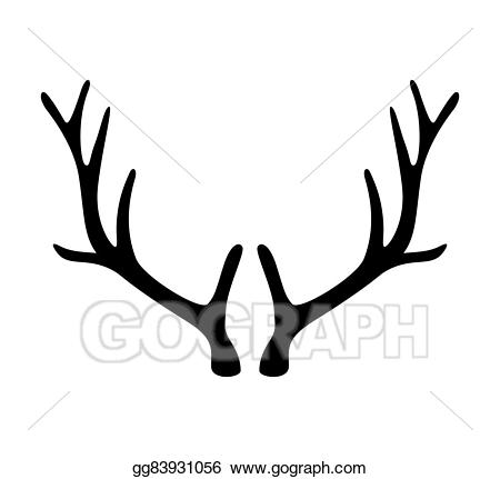 picture library library Vector art deer horns. Antlers clipart.