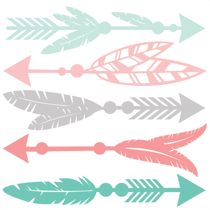 vector freeuse stock Free arrow clipart. Feather set svg scrapbook.