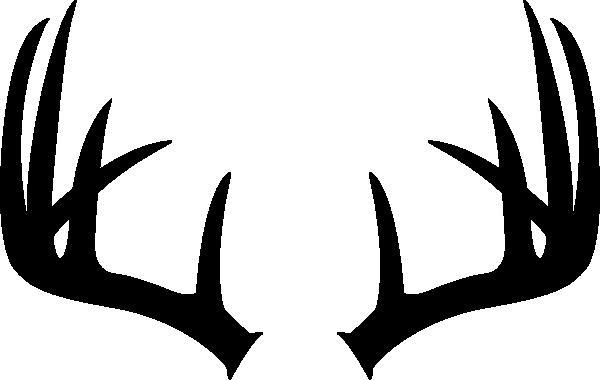 black and white library Elk Antler Clipart