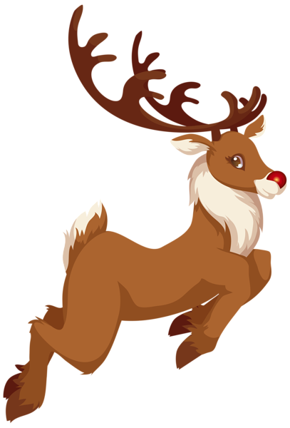 jpg royalty free stock Christmas png clip art. Antlers clipart rudolph.