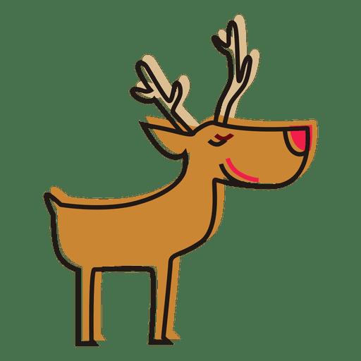 jpg royalty free download Reindeer standing cartoon icon