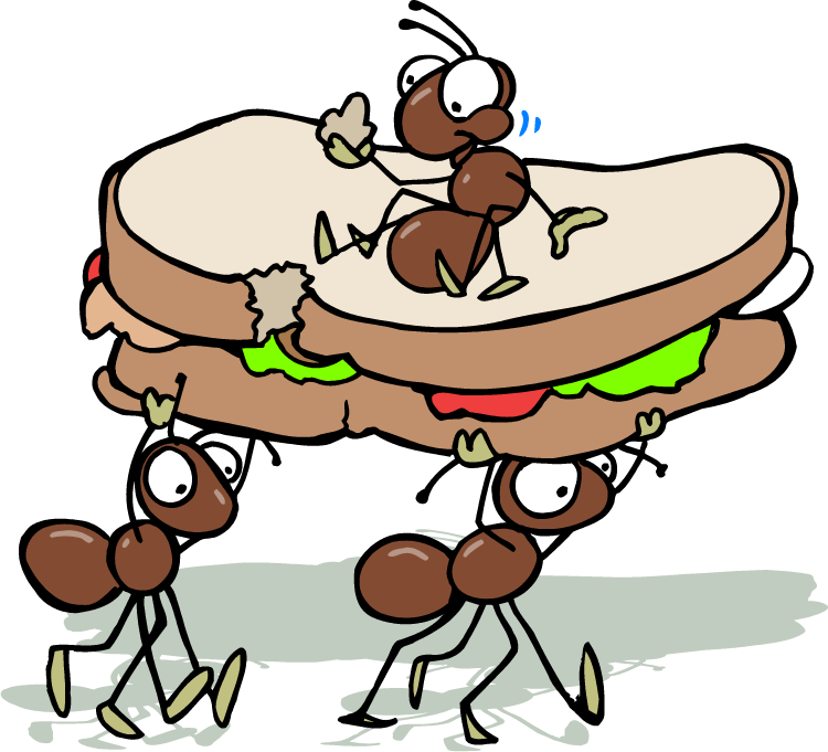 image free library cartoon ants picnic
