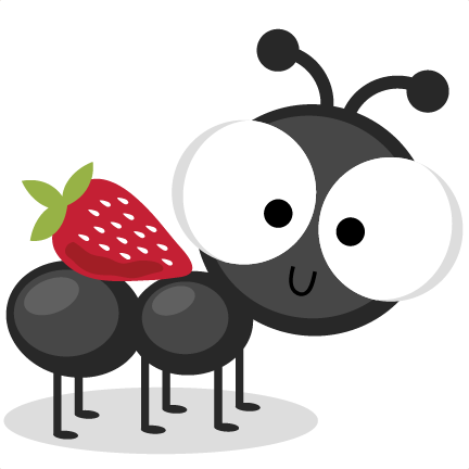 download Google svg cute. Ant with strawberry cutting