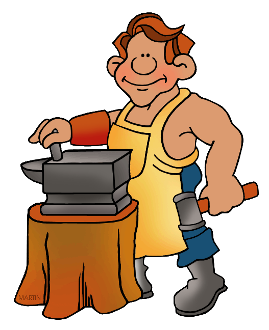 vector free Anvil clipart colonial