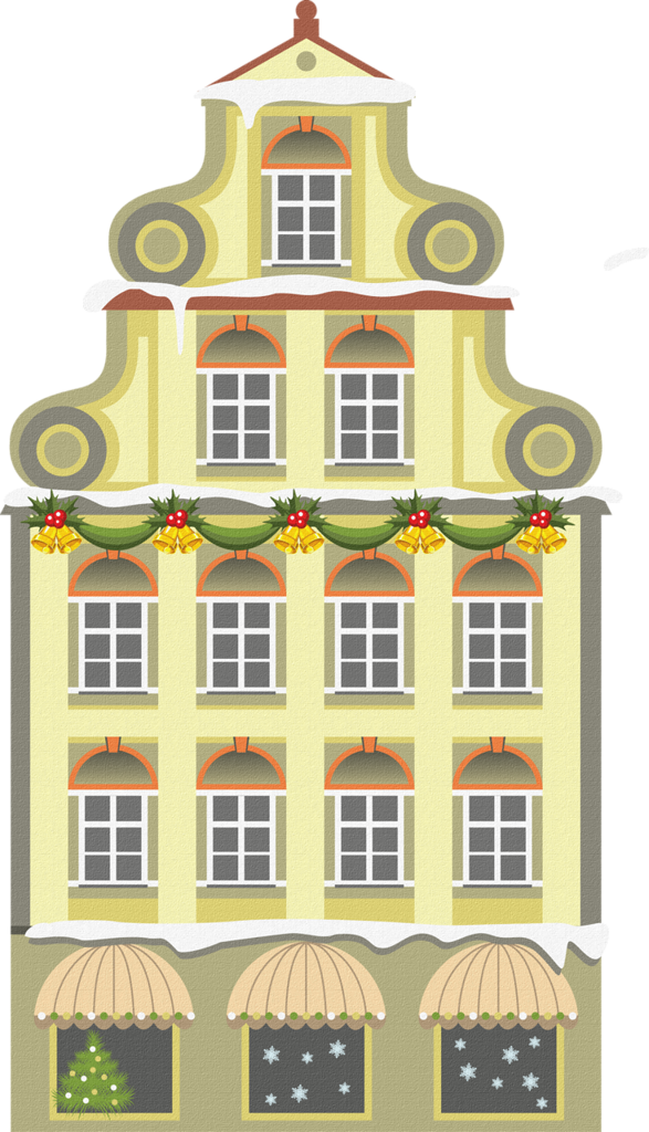 clipart black and white stock Neighbors clipart two house.  png christmas villages.