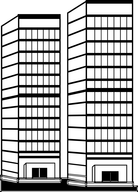 clip transparent download Apartment Complex Clipart outline