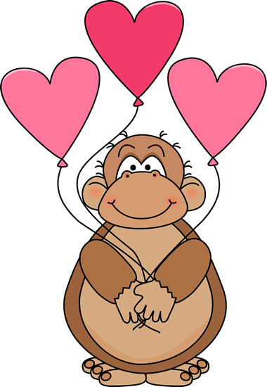 picture royalty free stock Valentine s day clip. Ape clipart