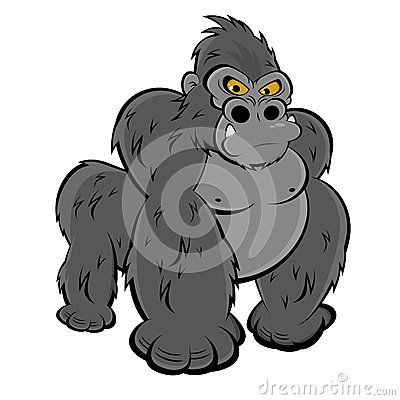 freeuse download Funny cartoons illustration of. Ape clipart angry gorilla.