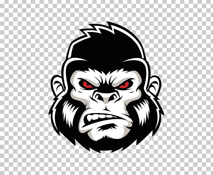 graphic free Logo png animals crossfit. Ape clipart angry gorilla.