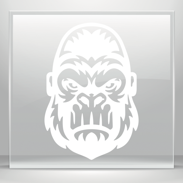 svg stock Ape clipart angry gorilla. Simple color vinyl stickers