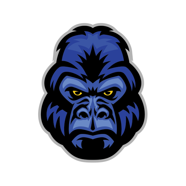 vector library stock Ape clipart angry gorilla. Printed vinyl stickers factory