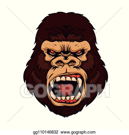 jpg freeuse stock Vector art kong beast. Ape clipart angry gorilla.