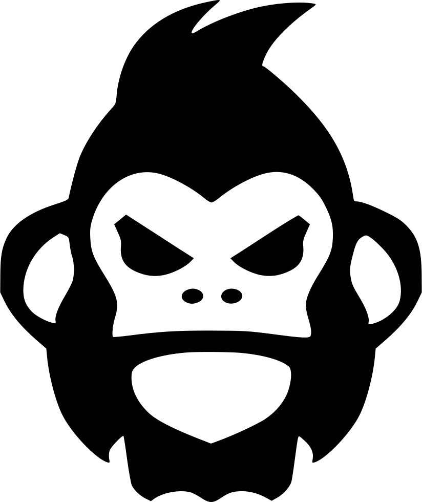 vector black and white download Angry Gorilla Monkey Rage Svg Png Icon Free Download