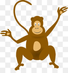 jpg transparent library Free download monkey jungle. Ape clipart baboon