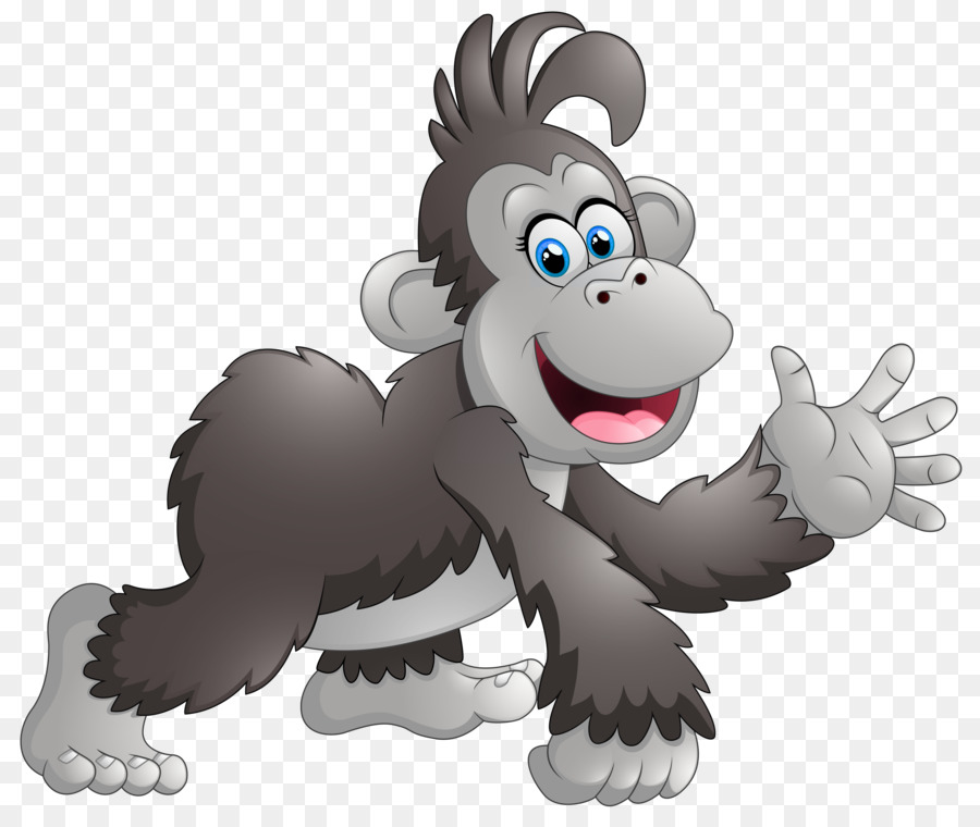 jpg stock Baboons monkey animation clip. Ape clipart baboon