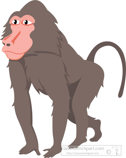 graphic black and white library Transparent free for download. Ape clipart baboon
