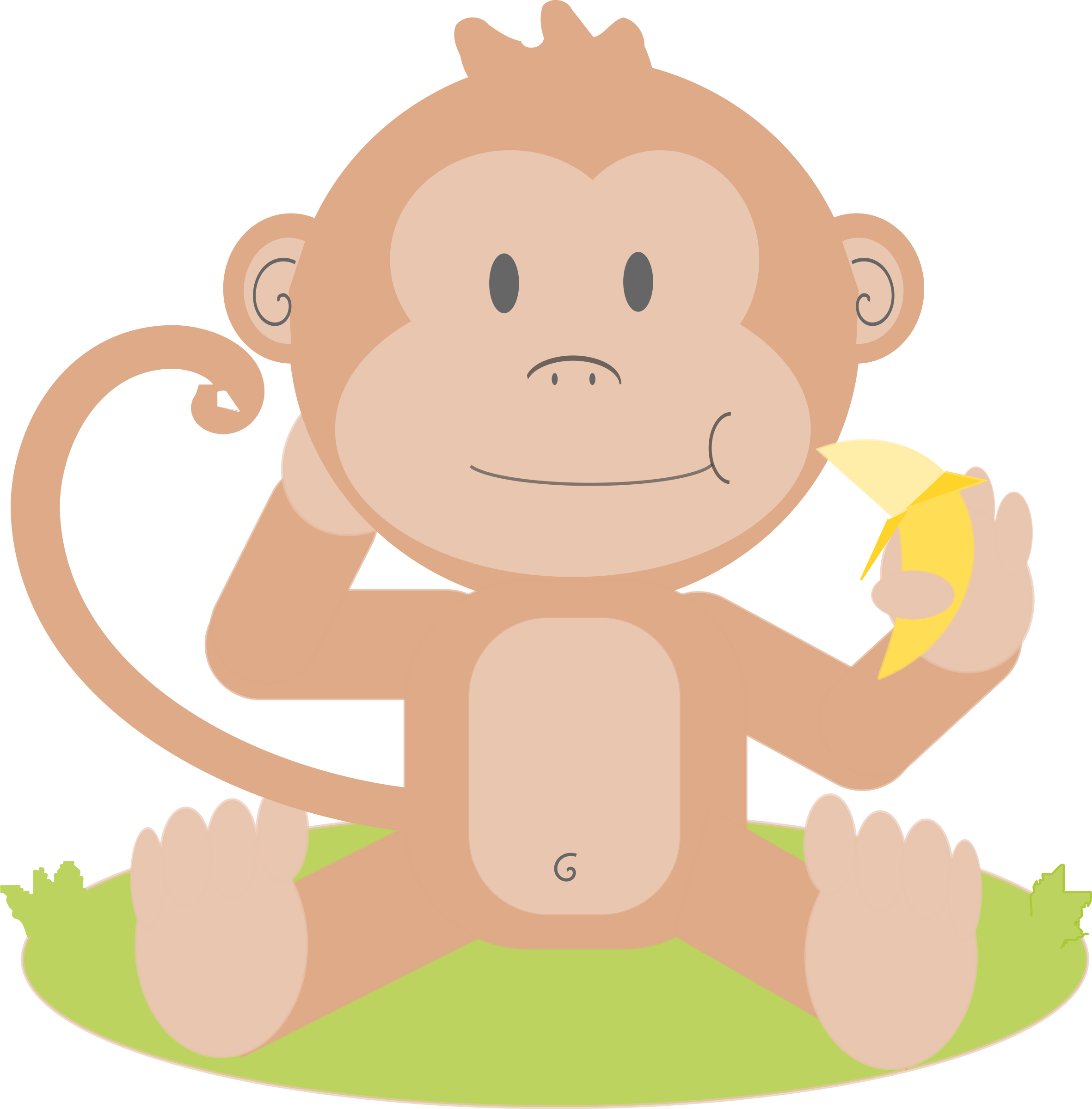 image stock Year of the monkey. Ape clipart baboon