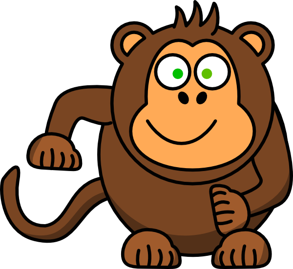 svg black and white stock Ape clipart banana. Monkey clip art at