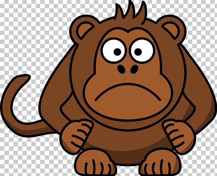 clip black and white library Chimpanzee cartoon png animated. Ape clipart big monkey