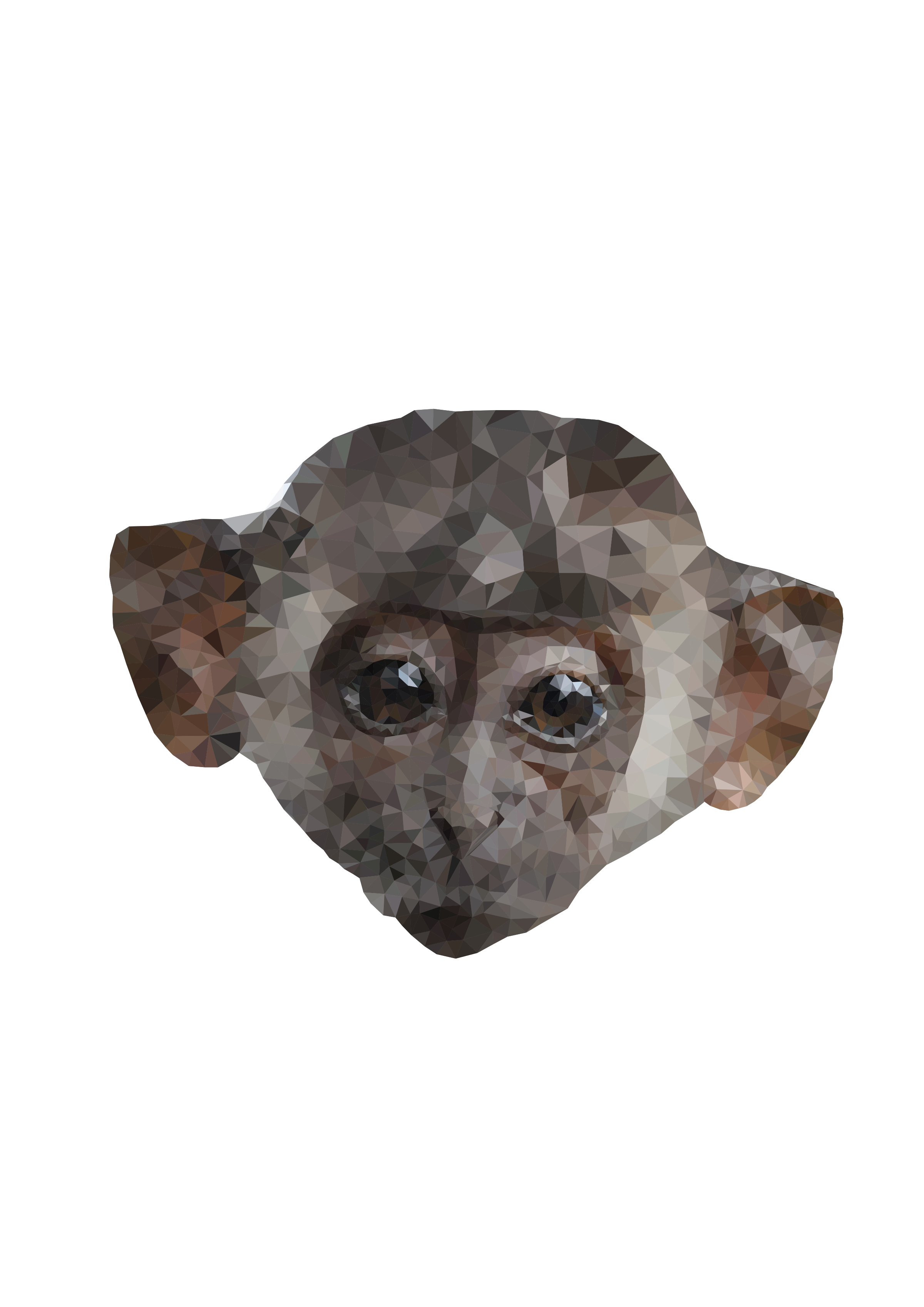 svg royalty free library Low poly image png. Ape clipart big monkey