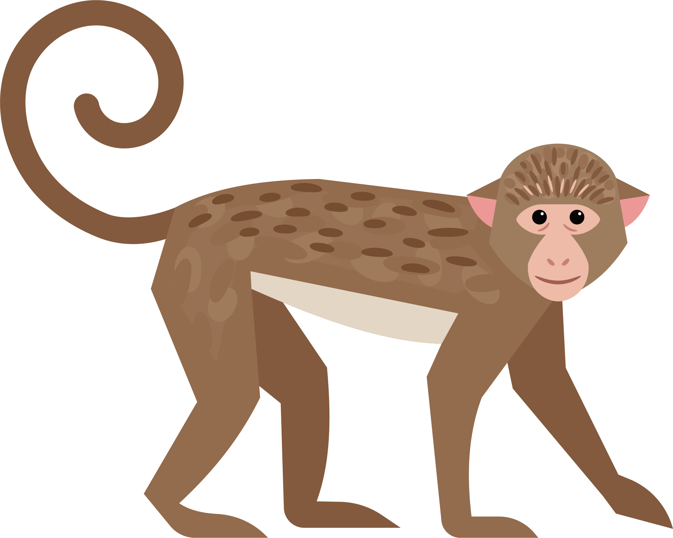 vector free library Cute little transprent png. Ape clipart big monkey