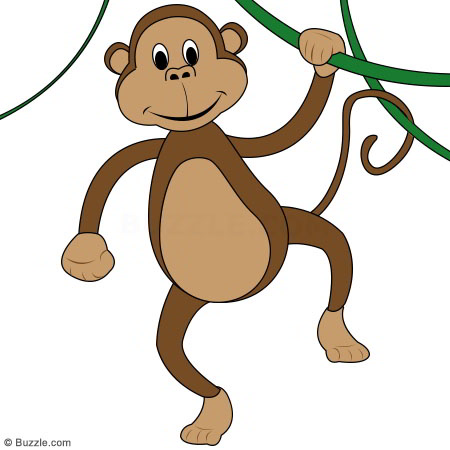 vector transparent stock Free monkey hanging from. Ape clipart body