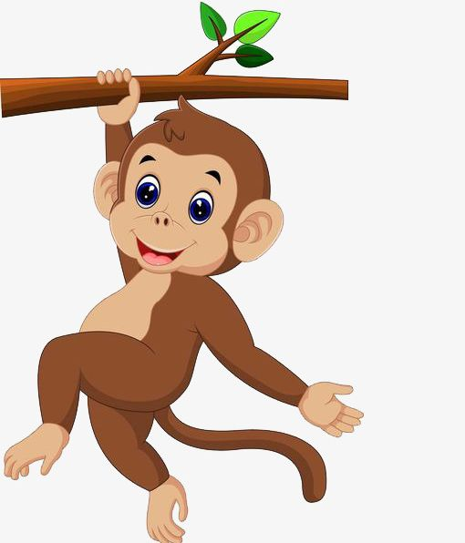 clip art black and white download Ape clipart body. The monkey holding trunk