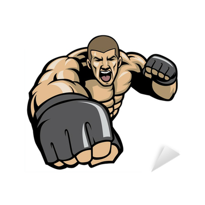 graphic free stock Ape clipart bodybuilding. Mma fighter throw a